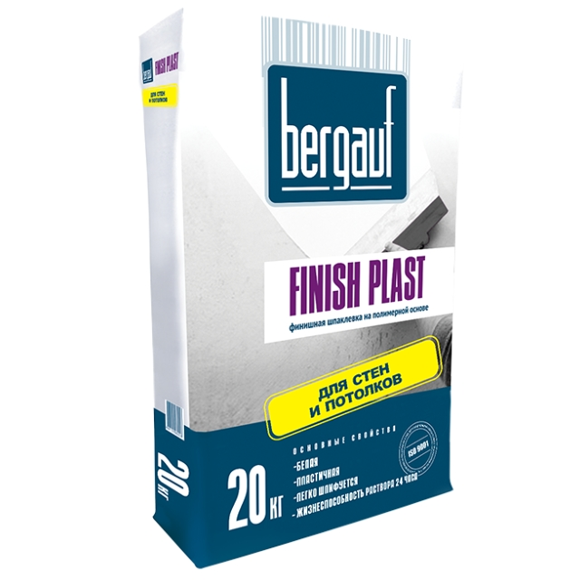 Шпаклевка Finish Plast белый Bergauf