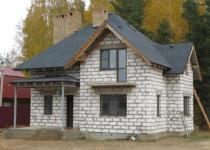 Дом из пеноблоков стеновых